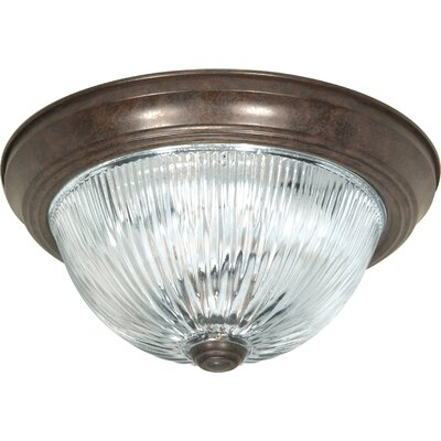 Biggsville 2-Light Flush Mount Finish: Old Bronze