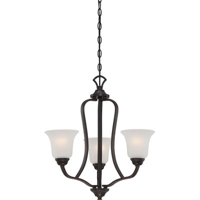 Hardin 3-Light Shaded Chandelier Finish: Sudbury Bronze