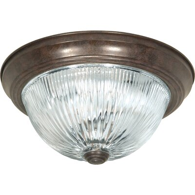 3-Light Flush Mount Finish: Old Bronze