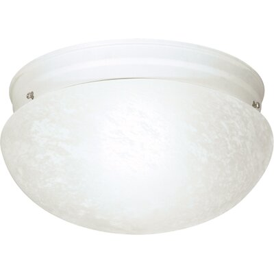 Chacon 2-Light Flush Mount Finish: Textured White