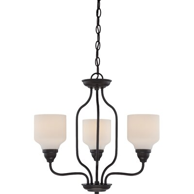 Kirk 3-Light Shaded Chandelier Finish: Mahogany Bronze