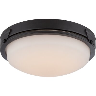 Crest 1-Light Flush Mount Finish: Aged Bronze