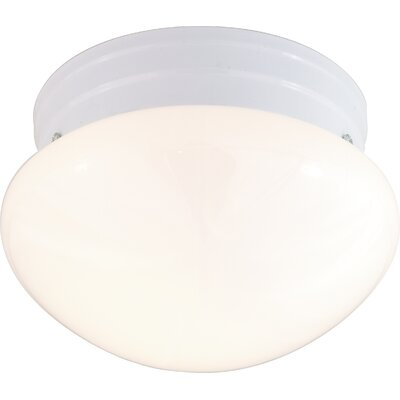 2-Light Flush Mount Shade Color: White, Finish: White