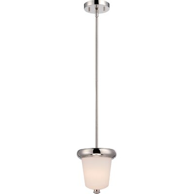 Burhill 1-Light Mini Pendant Finish: Polished Nickel