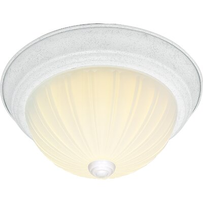 David 3-Light Flush Mount Finish: Textured White, Size: 6 H x 15.25 W x 15.5 D