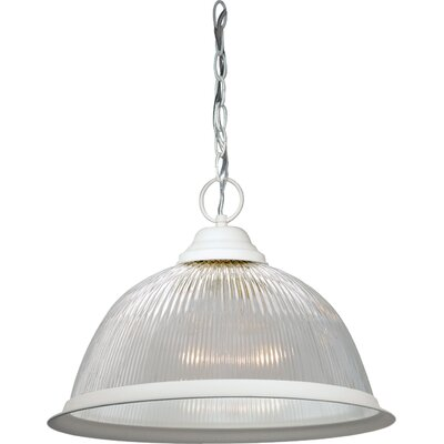 Dedham 1-Light Pendant Finish: Textured White