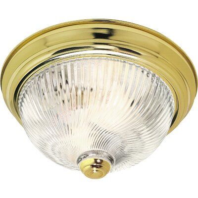 Daughtrey 2-Light Glass Shade Flush Mount