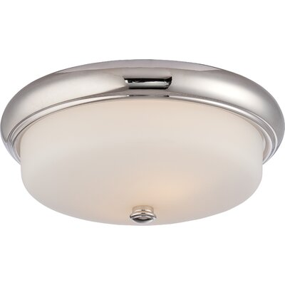 Burhill 2-Light Flush Mount Finish: Polished Nickel
