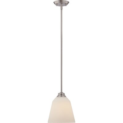Hardiman 1-Light Mini Pendant Finish: Brushed Nickel