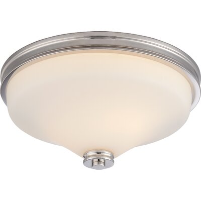 Crainville 2-Light Flush Mount Finish: Polished Nickel