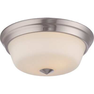 Hardiman 2-Light Flush Mount Finish: Brushed Nickel