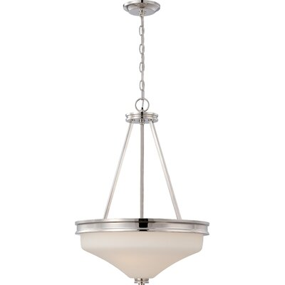 Crainville 3-Light Pendant Finish: Polished Nickel