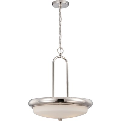 Burhill 3-Light Pendant Finish: Polished Nickel