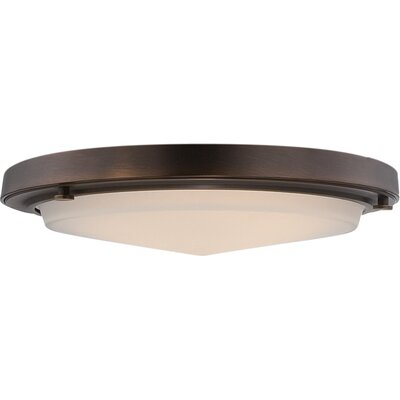 Sawyer 1-Light Flush Mount Finish: Rustic Brass