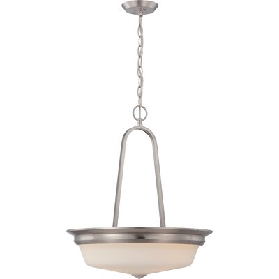 Calvin 3-Light Pendant Finish: Brushed Nickel