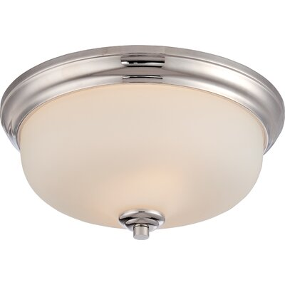 Kirk 2-Light Flush Mount Finish: Polished Nickel