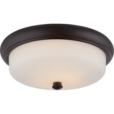 Burhill 2-Light Flush Mount Finish: Mahogany Bronze