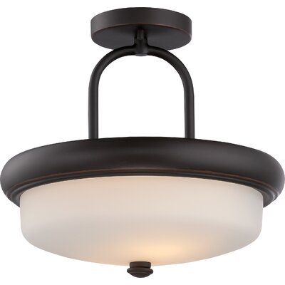 Dylan 2-Light Semi Flush Mount Finish: Mahogany Bronze