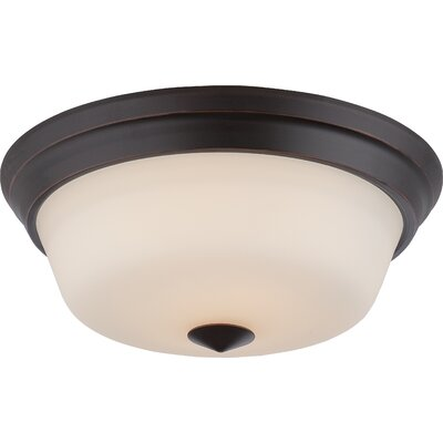 Hardiman 2-Light Flush Mount Finish: Mahogany Bronze