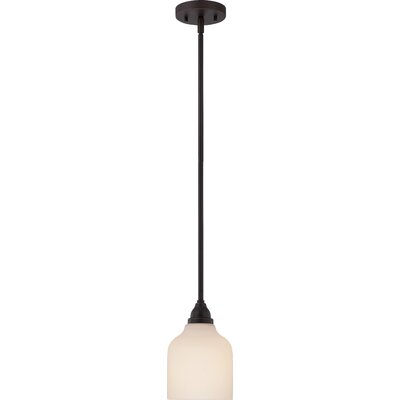 Craine 1-Light Mini Pendant Finish: Mahogany Bronze