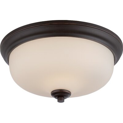 Craine 2-Light Flush Mount Finish: Mahogany Bronze