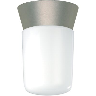 1-Light Flush Mount Finish: Satin Aluminum