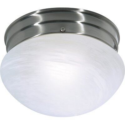 Keaton 1-Light Flush Mount Finish: Brushed Nickel