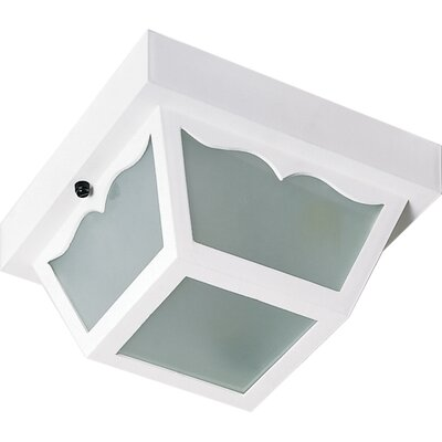 Carport 1-Light Flush Mount Finish: White, Size: 4.75 H x 8.25 W x 8.5 D