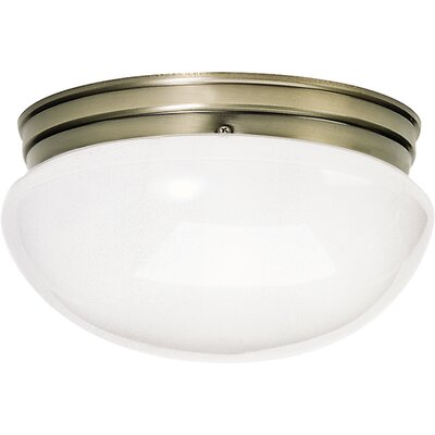 2-Light Flush Mount Finish: Antique Brass