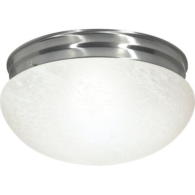 Chacon 2-Light Flush Mount Finish: Brushed Nickel