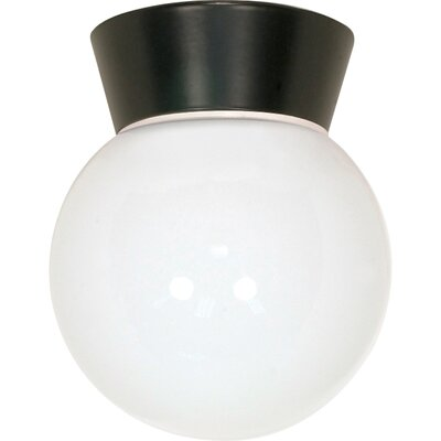 1-Light Flush Mount Finish: Bronzotic