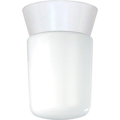 1-Light Flush Mount Finish: White