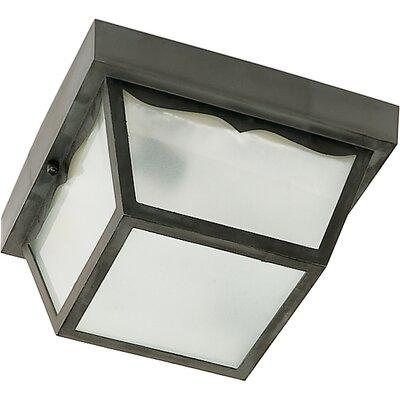 Carport 1-Light Flush Mount Finish: Black, Size: 5.5 H x 10.25 W x 10.63 D
