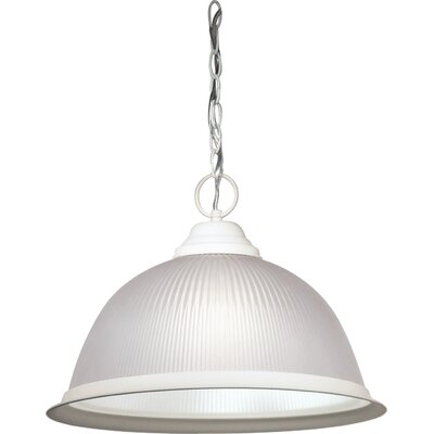 Dedham 1-Light Glass Shade Pendant Finish: Textured White