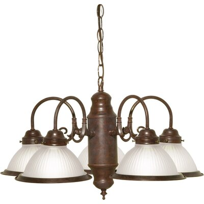 Cupps 5-Light Shaded Chandelier Finish: Old Bronze