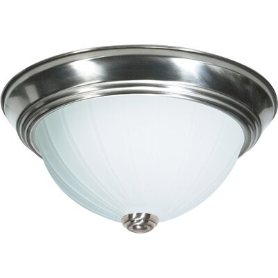 Capri 2-Light Glass Shade Flush Mount Finish: Brushed Nickel