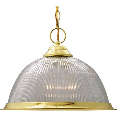 Dedham 1-Light Pendant Finish: Polished Brass