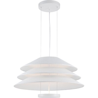 Evol 1-Light Pendant Finish: Glacier White