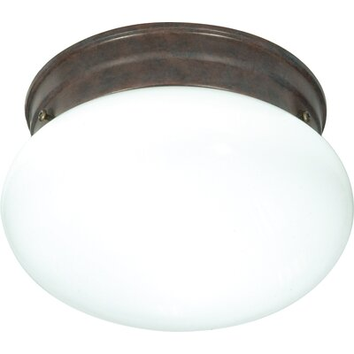 Janice 1-Light Flush Mount Finish: Old Bronze