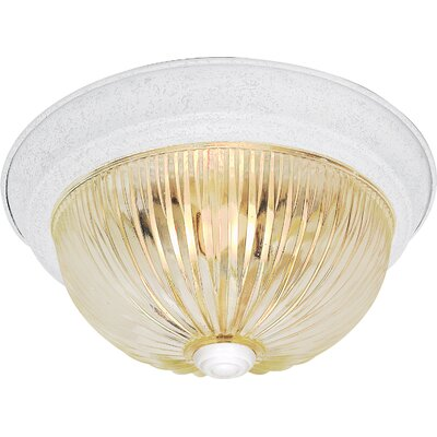 Kaufmann 3-Light Flush Mount Finish: Textured White