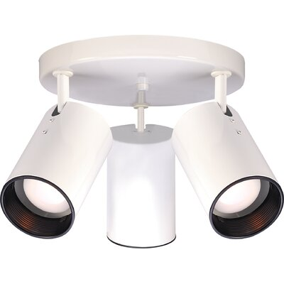 3-Light Semi Flush Mount