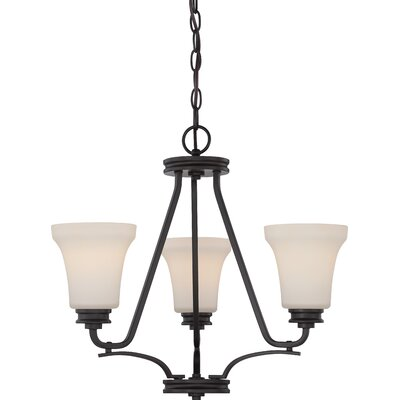 Cody 3-Light Shaded Chandelier Finish: Mahogany Bronze
