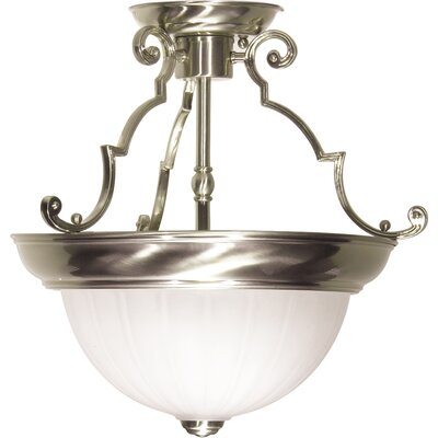 Dyer 2-Light Semi Flush Mount Color: Brushed Nickel