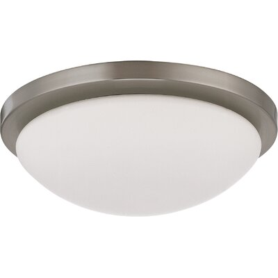 Karla Contemporary Flush Mount Size: 3.875 H x 11 W