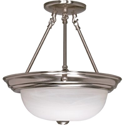 Semi Flush Mount Size / Energy Star: 14 H x 13.25 W / Yes