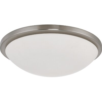 Karla Contemporary Flush Mount Size: 5 H x 17 W