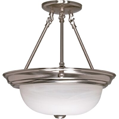 Dahodwala Semi Flush Mount Size / Energy Star: 15.5 H x 15.25 W / Yes
