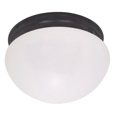 Yancy Traditional 2-Light Flush Mount Size: 5 H x 10 W x 11 D, Shade Color: Champagne, Feature: No Energy Star