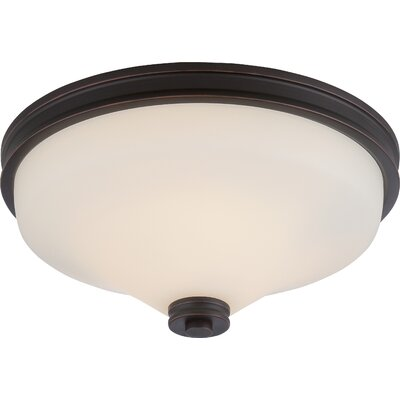 Cody 2-Light Flush Mount Finish: Mahogany Bronze