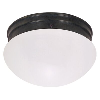 Mushroom 2-Light Flush Mount Shade Color: Opal
